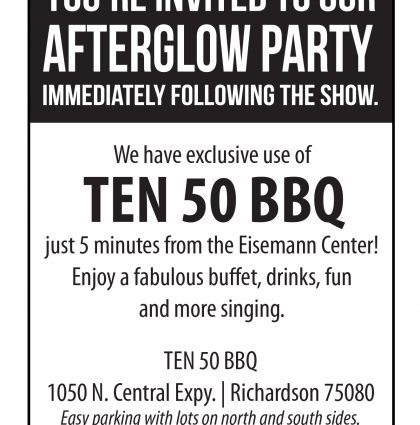 Afterglow Event – Black & White Ad