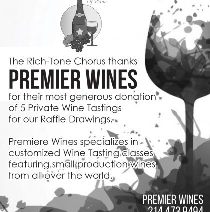 Premier Wine Sponsorship – Black & White Ad